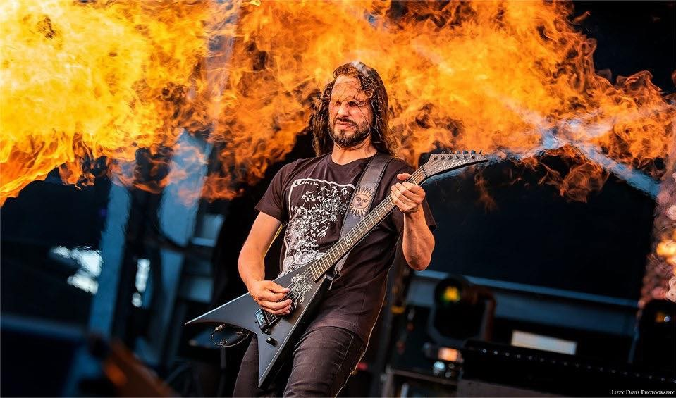 Gojira Guitarist Christian Andreu Took A Pyro Fire Blast To The Face Like A Champ